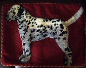 SALE Dalmation Dog Animal Needlepoint Pillow. Beautiful Reduced Price