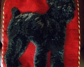 SALE Brussels Griffon Dog Animal Needlepoint Pillow PRICE REDUCED
