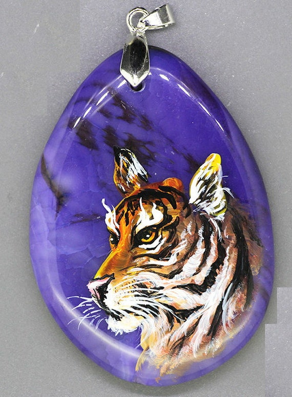 Tiger Pendant Hand Painted
