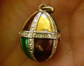 Enamel Egg Locket Pendant