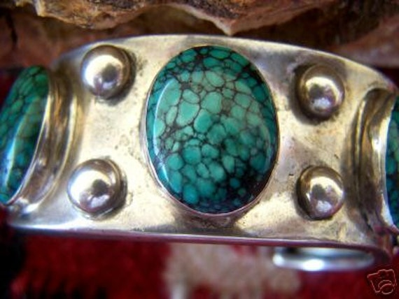 Pawn Old Turquoise Cuff Bracelet