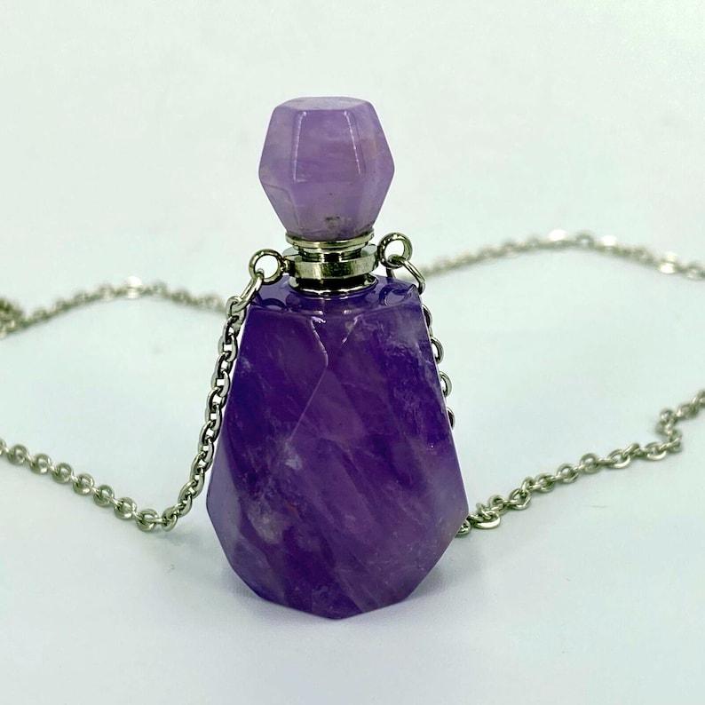 Natural Purple Amethyst Bottle pendant