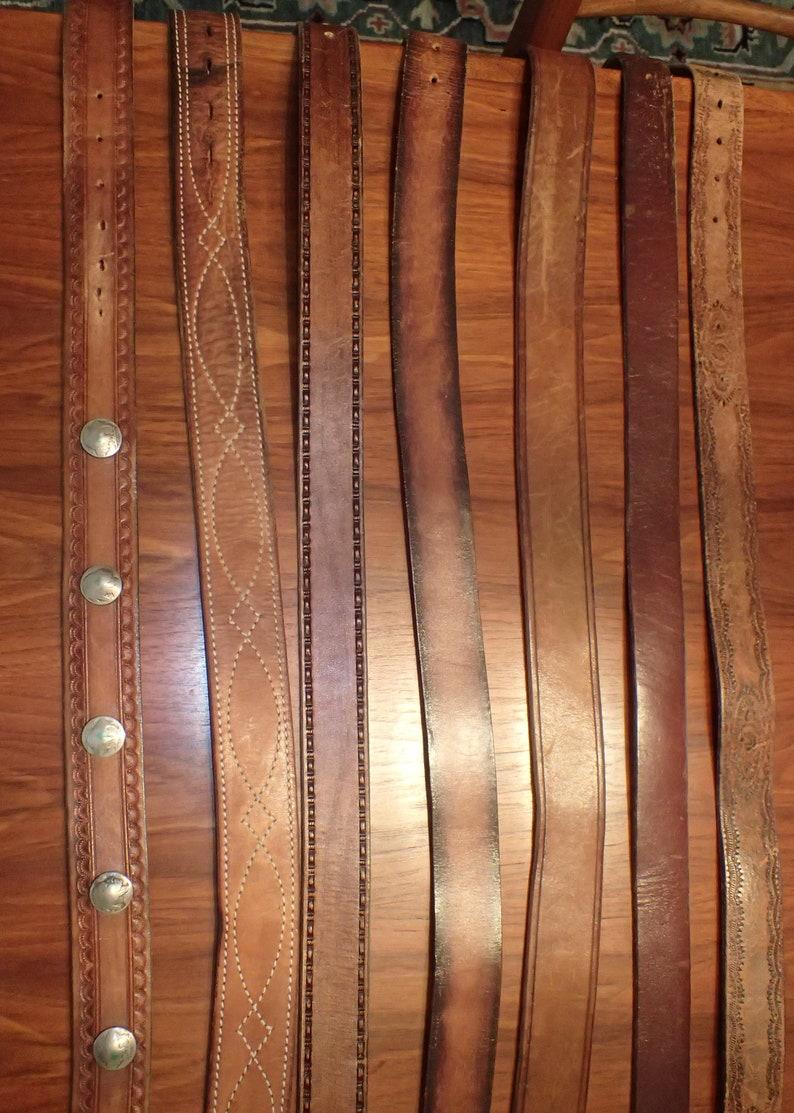 One Vintage Leather Belt