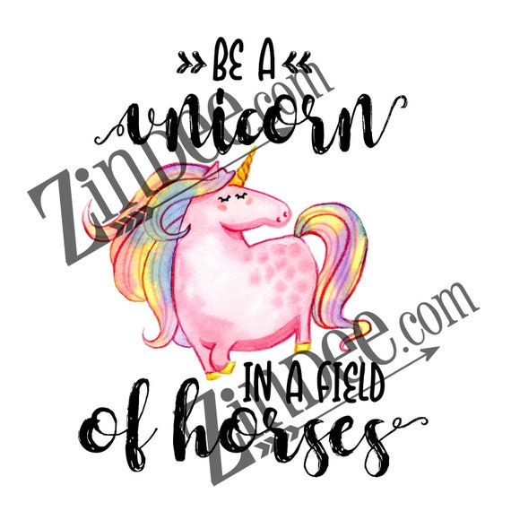unicorn in a field of horses sublimation transfer ready to etsy Road to 50 Subs image