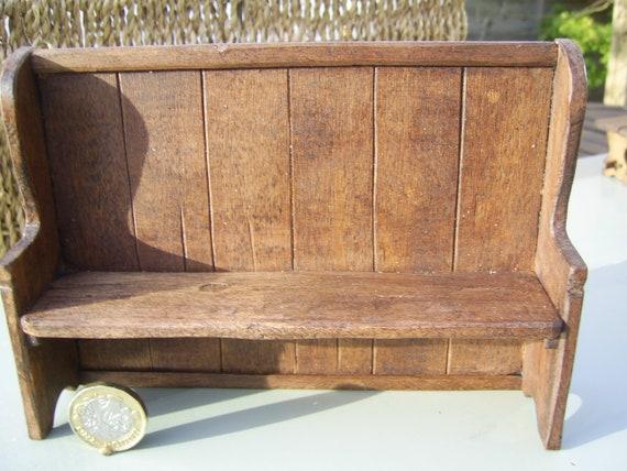 Handmade Tudor style bench 112 scale