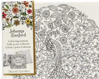 Coloring Pages For Adults Johanna Basford Canvas Secret Garden Wall Art DIY Crafts Peacock