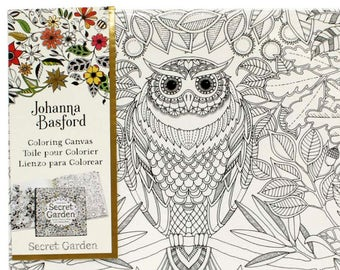 Coloring Pages For Adults Johanna Basford Canvas Secret Garden Wall Art DIY Crafts Owl Decoration