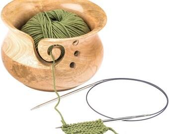 Yarn Bowl, Wood Yarn Holder for Knitting, Easy Yarn Feeder, Yarn Holder, Knitting Project Feeder