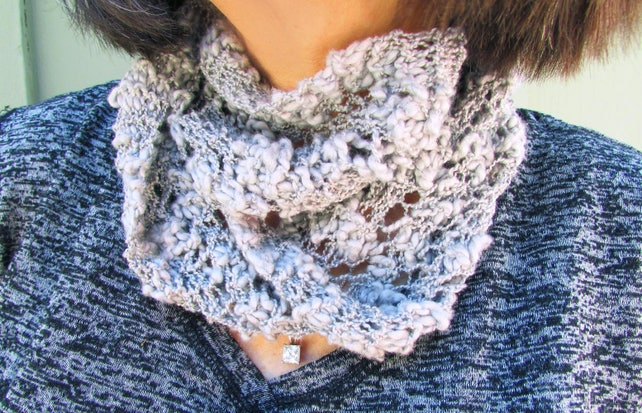 Scarf Knitting Pattern Scarf Knit Kit Easy Knitted Scarf For Etsy