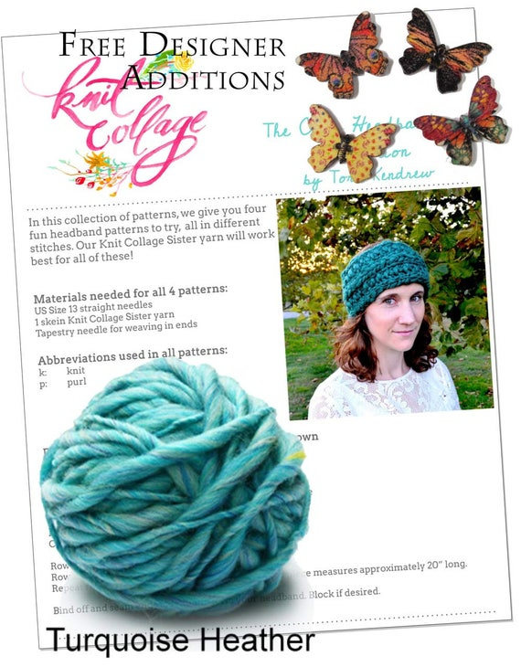 Headband Knitting Pattern Beginner Headband Knit Kit Quick Etsy