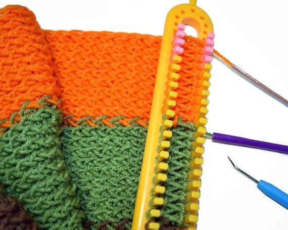 Long Knitting Loom With Removable Pegs For Scarves Yarn Loom Etsy