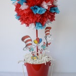 Seuss birthday party centerpiece decoration, dr Seuss decoration, dr Seuss centerpieces, baby shower decoration, thing one and two
