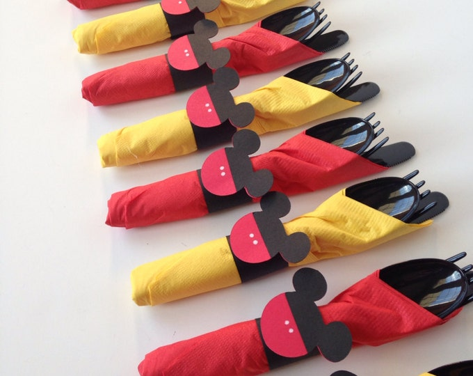 Featured listing image: Party Cutlery, Birthday Cutlery, Kids Cutlery, Party Utensils, Mickey Mouse Utensils, Plastic Utensils, Utensils Kids Party, Kids Party