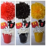 Mickey Mouse Birthday Centerpiece, Party Centerpiece, Kids Party Decor, Birthday Decor, Table Decoration, Mickey Mouse Party, 1st birthday