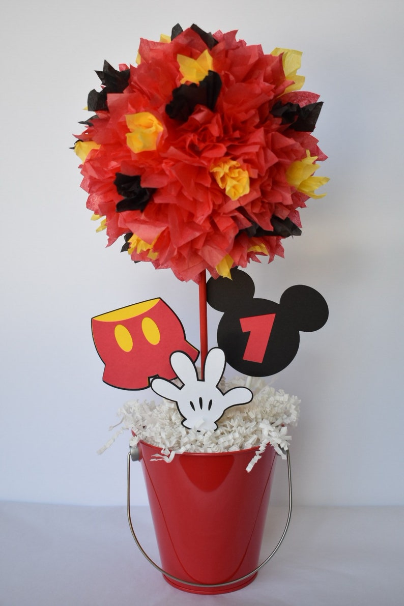 Mickey Mouse birthday party decoration centerpiece image 0