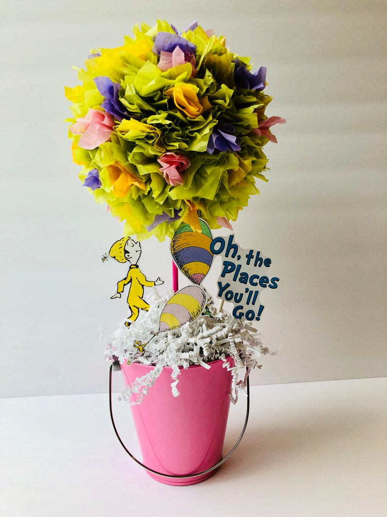 Oh the places you will go centerpiece baby shower birthday image 0