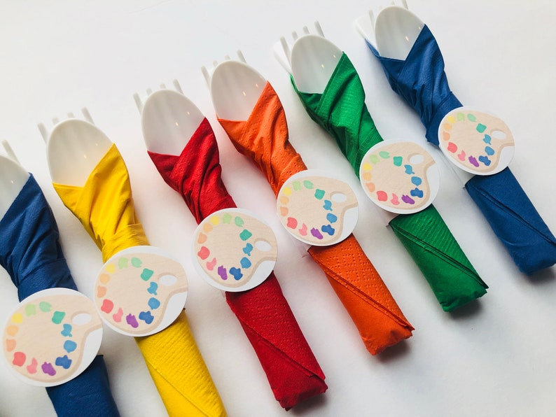 Art Party Cutlery Art Birthday Cutlery Cutlery Party image 0