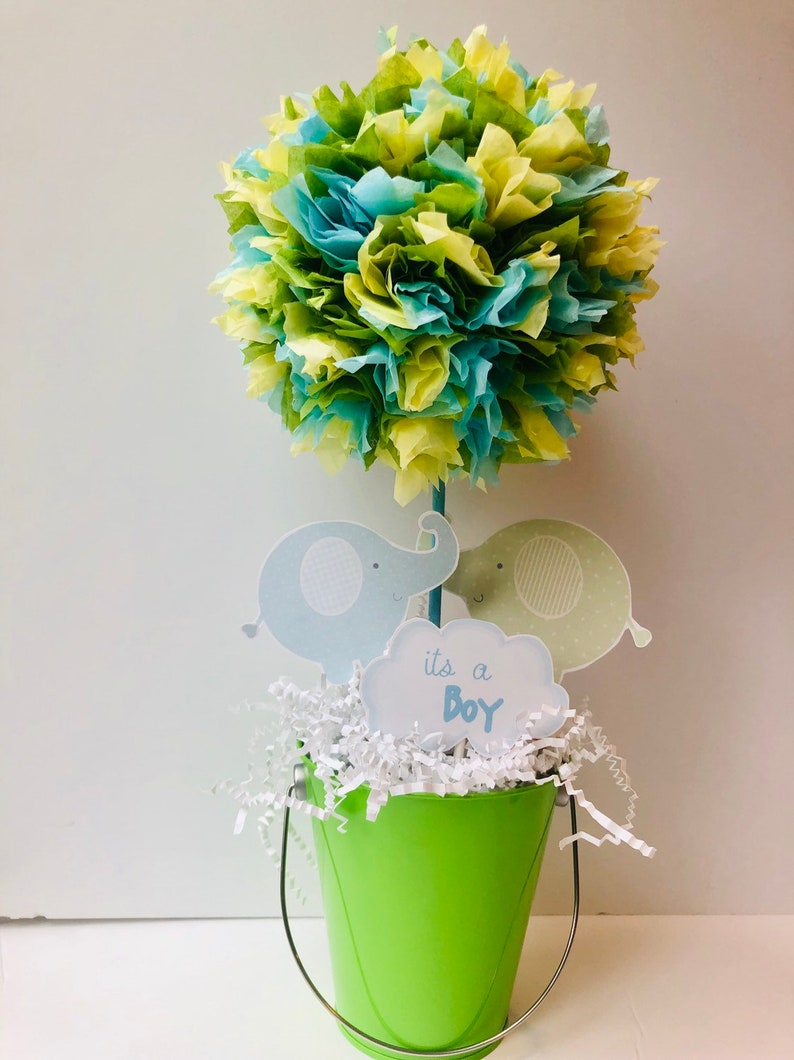 Boy elephant Baby Shower decoration centerpiece baby shower image 0