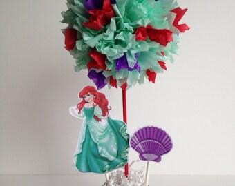 Princess Ariel birthday party decoration, centerpiece, centerpieces, little mermaid