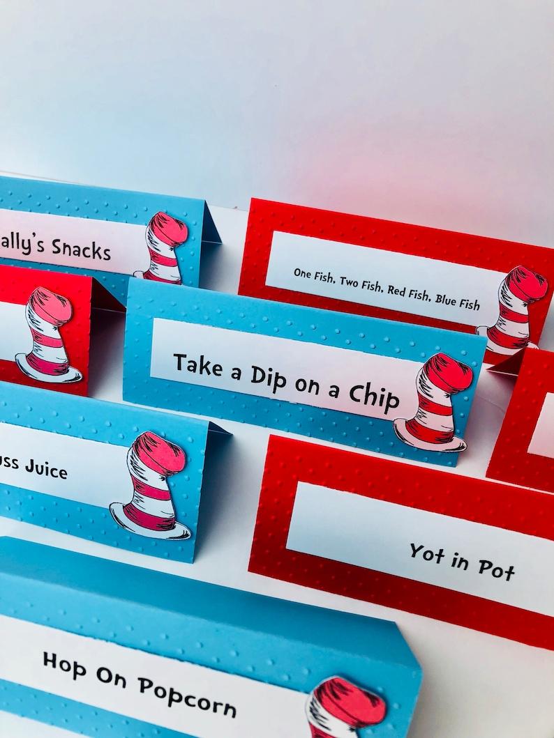 Dr Seuss Food Labels Buffet tents place labels food labels image 0
