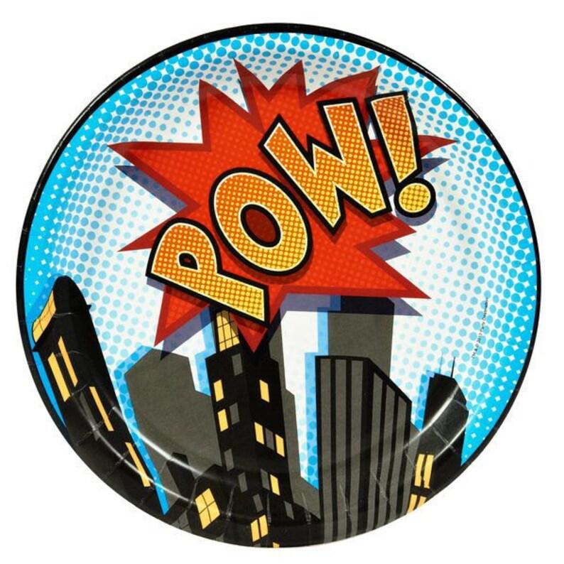 Super Hero Plates  Super Hero Party Plates  Super Hero image 0