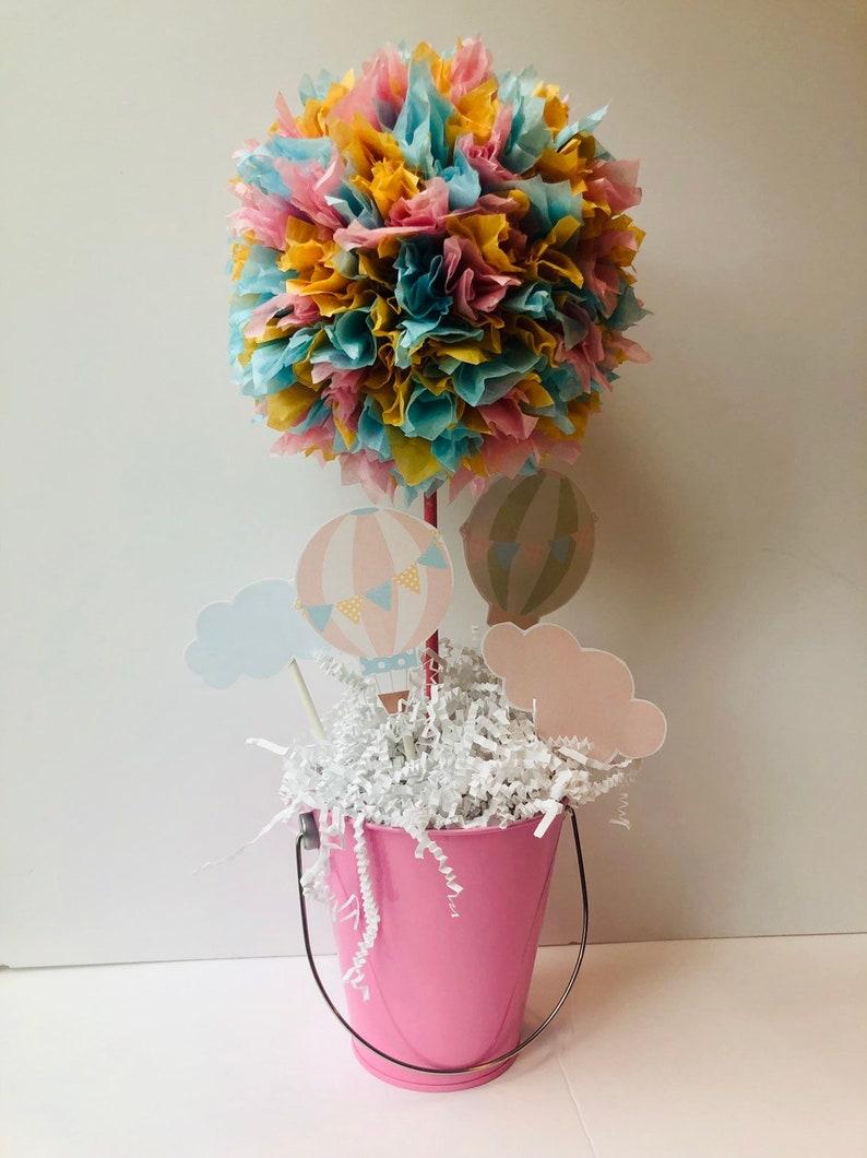 Hot Air Balloon Baby Shower decoration centerpiece baby image 0