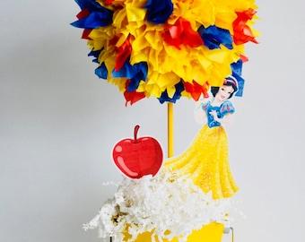 Princess Snow White birthday party decoration, centerpiece, centerpieces, Snow White