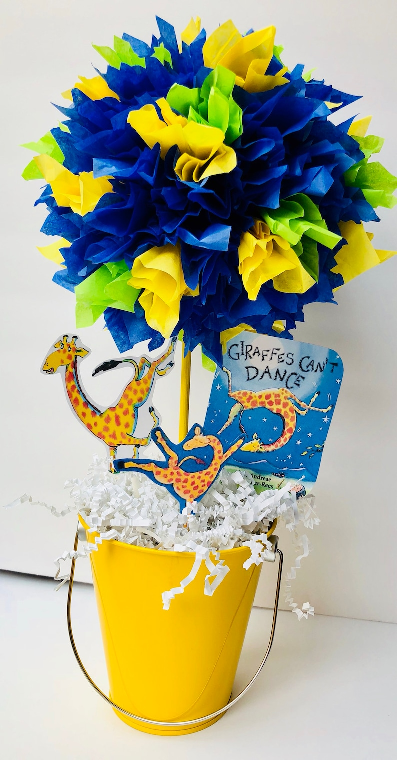 Giraffes cant dance baby shower centerpiece giraffes cant image 0