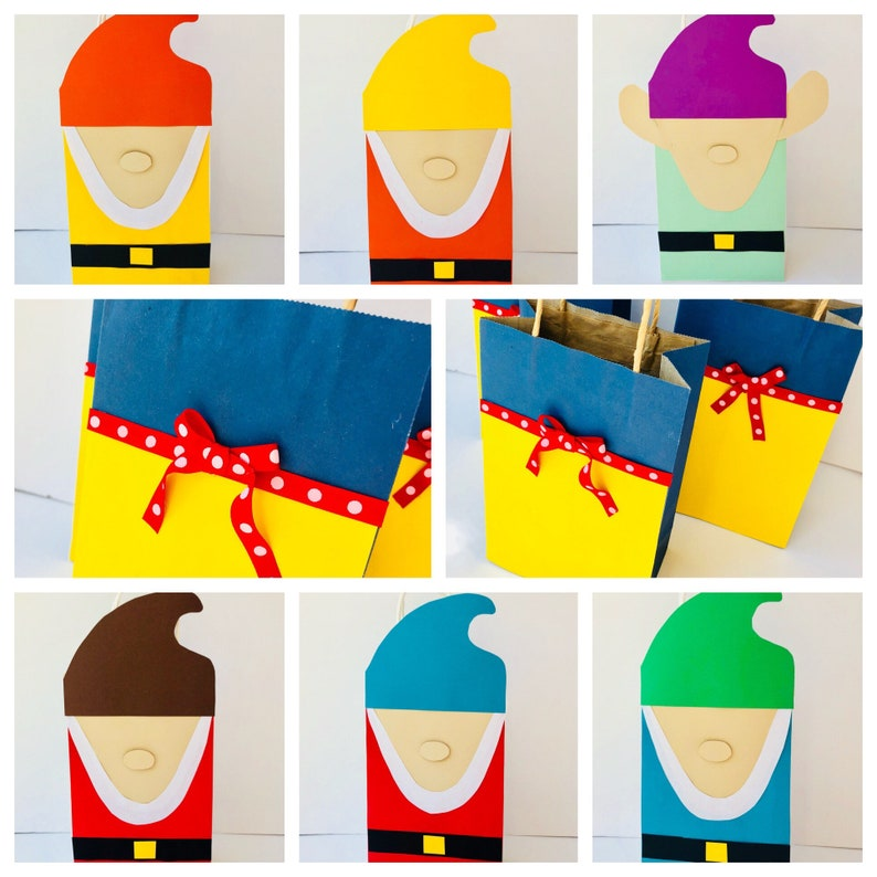 Snow white birthday party favor bags favors set of 8 snow image 0