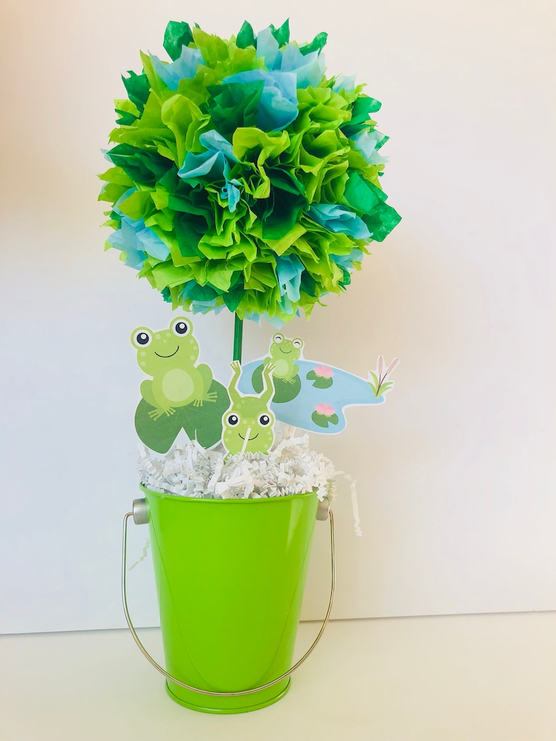 Frog Birthday Party Decoration Centerpiece Froggy Decoration image 0