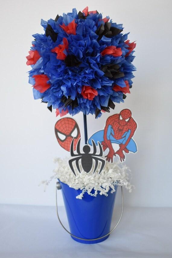 Spiderman Birthday Centerpiece Super Hero Party Spiderman Etsy