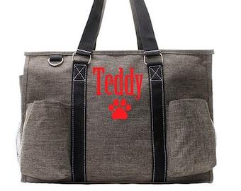 Personalized Pet Tote | Dog Tote | Pet Bag | Personalized Dog Bag | Personalized Dog Travel Tote Bag | Dog Day Care Bag | Dog Travel Tote