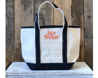 Flower Girl Canvas Tote Bag | SMALL Monogram Open Top Tote | Personalized With Name Or Monogram | Flower Girl Tote | Monogram Bridal Gift