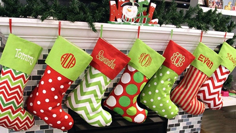 579f39ce683 Christmas Stockings 19 Patterns Embroidered Personalized