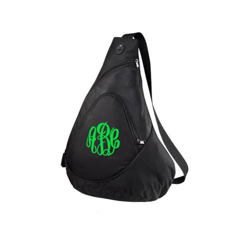 Monogrammed Sling Bag-Monogrammed Sling Backpack-Personalized image 0