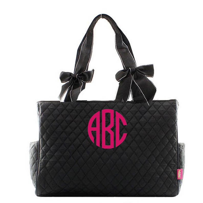 Monogrammed Diaper Bags Personalized Quilted Diaper Bags Solid image 0
