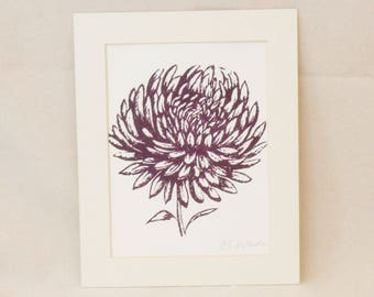 Chrysanthemum bloom print