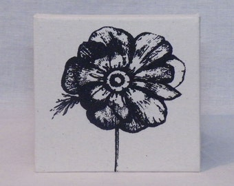 Anenome Canvas - Black on natural calico