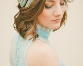 The Olivia Floral Crown created with olive leaves and eucalyptus seeds