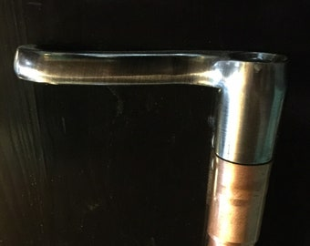 STEAMPUNK door knob walk stick - cane- 36 inch tall- wood shaft