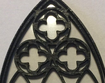 Gothic Window frames  gaming miniature TERRAIN  4 frames with clear window and pattern