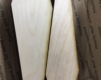 Plywood coffin shapes 8- 1/2 x 2-13/16 inch size, 1/4 inch nominal thickness 18 pcs