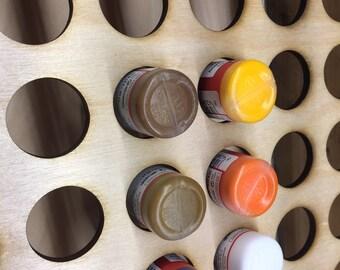 PRE ORDER 84 Bottle   Miniatures Paint - wall rack-Holds 84 1 oz  bottles Wargame Paint
