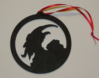 Pack of 4 KRAMPUS wood Ornament - Laser cut Ornament
