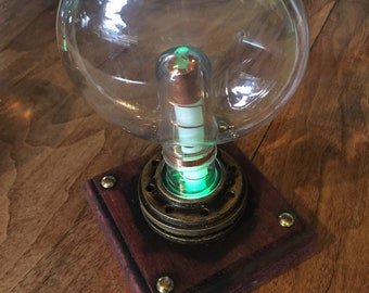 Desktop Steampunk Tube - Light up Tesla Tube - Steampunk  Science Prop