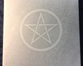 Ouija Spirit Board Pentacle Stone Tile- laser etched detail- 12x12in