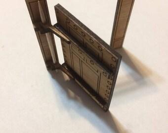 Swinging Iron Door- gaming miniature-laser cut wood