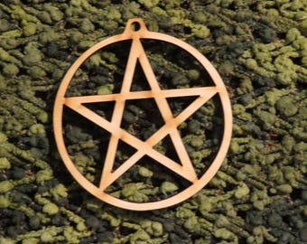 12 pack of YULE Pentagram Pentacle Ornaments - 3 in diameter