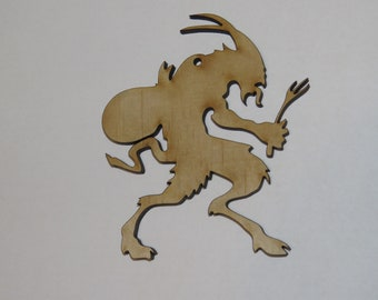 KRAMPUS 2 x pcs Figure wood Ornament - Laser cut Ornament