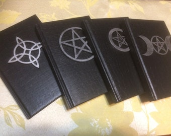 LAST FEW Book of Shadows, Silver color on Black 5x7 60 lined pages